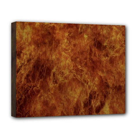 Abstract Flames Fire Hot Deluxe Canvas 20  X 16   by Celenk