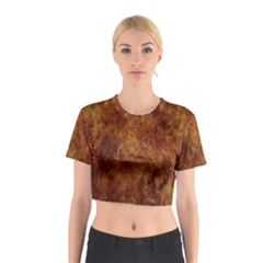 Abstract Flames Fire Hot Cotton Crop Top