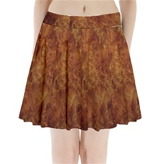 Abstract Flames Fire Hot Pleated Mini Skirt