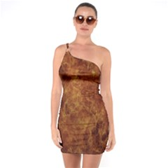 Abstract Flames Fire Hot One Soulder Bodycon Dress