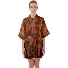 Abstract Flames Fire Hot Quarter Sleeve Kimono Robe by Celenk