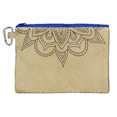 Vintage Background Paper Mandala Canvas Cosmetic Bag (xl) by Celenk