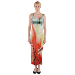 Fabric Texture Softness Textile Fitted Maxi Dress