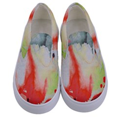 Fabric Texture Softness Textile Kids  Canvas Slip Ons