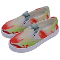 Fabric Texture Softness Textile Kids  Canvas Slip Ons by Celenk