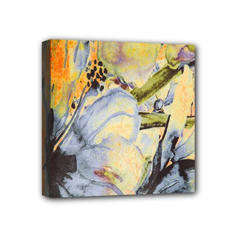 Flower Texture Pattern Fabric Mini Canvas 4  X 4