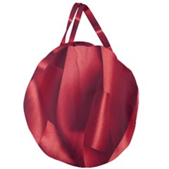 Red Fabric Textile Macro Detail Giant Round Zipper Tote