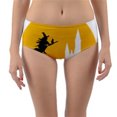 Castle Cat Evil Female Fictional Reversible Mid Waist Bikini Bottoms by Celenk