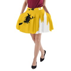 Castle Cat Evil Female Fictional A Line Pocket Skirt by Celenk