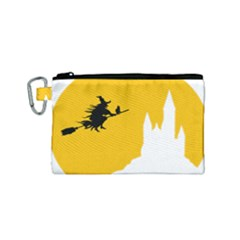 Castle Cat Evil Female Fictional Canvas Cosmetic Bag (small)