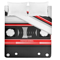 Compact Cassette Musicassette Mc Duvet Cover Double Side (queen Size) by Celenk