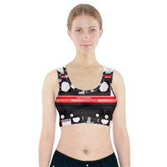 Compact Cassette Musicassette Mc Sports Bra With Pocket