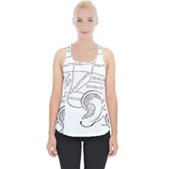 Brain Chart Diagram Face Fringe Piece Up Tank Top