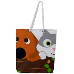 Baby Decoration Cat Dog Stuff Full Print Rope Handle Tote (large)