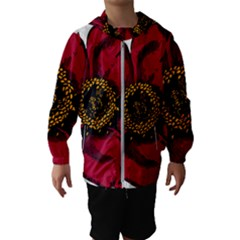 Floral Flower Petal Plant Hooded Wind Breaker (kids)