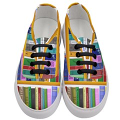Shelf Books Library Reading Women s Classic Low Top Sneakers