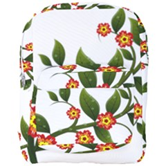 Flower Branch Nature Leaves Plant Full Print Backpack by Celenk