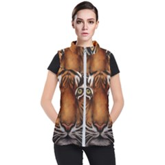 The Tiger Face Women s Puffer Vest