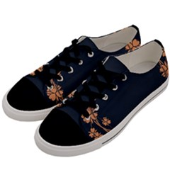 Floral Vintage Royal Frame Pattern Men s Low Top Canvas Sneakers by Celenk