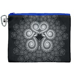 Fractal Filigree Lace Vintage Canvas Cosmetic Bag (xxl) by Celenk