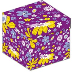 Floral Flowers Storage Stool 12   by Celenk