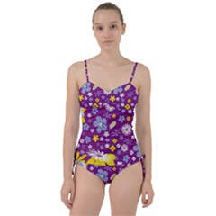 Floral Flowers Sweetheart Tankini Set by Celenk