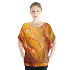 Flowers Leaves Leaf Floral Summer Blouse by Celenk