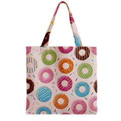 Colored Doughnuts Pattern Grocery Tote Bag by allthingseveryday