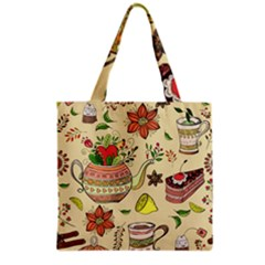 Colored Afternoon Tea Pattern Grocery Tote Bag by allthingseveryday