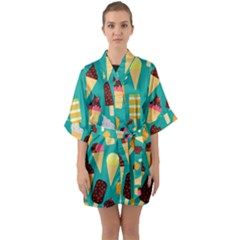 Summer Treats Quarter Sleeve Kimono Robe by allthingseveryday