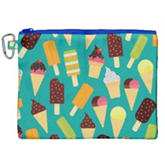 Summer Treats Canvas Cosmetic Bag (xxl) by allthingseveryday