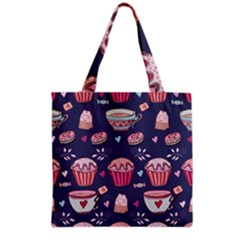 Afternoon Tea And Sweets Grocery Tote Bag by allthingseveryday