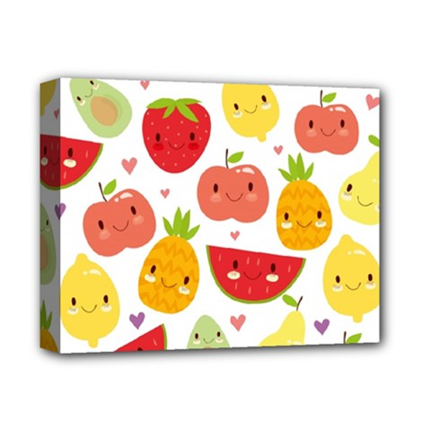 Happy Fruits Pattern Deluxe Canvas 14  X 11