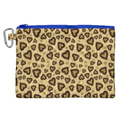 Leopard Heart 01 Canvas Cosmetic Bag (xl) by jumpercat