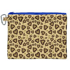 Leopard Heart 01 Canvas Cosmetic Bag (xxl) by jumpercat