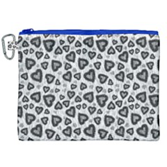 Leopard Heart 02 Canvas Cosmetic Bag (xxl)