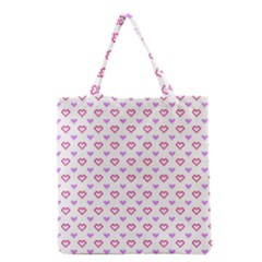 Pixel Hearts Grocery Tote Bag