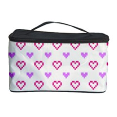 Pixel Hearts Cosmetic Storage Case by jumpercat