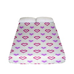 Pixel Hearts Fitted Sheet (full/ Double Size) by jumpercat