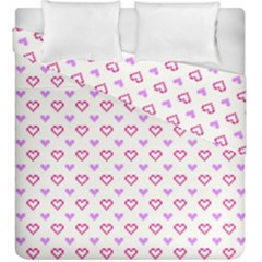 Pixel Hearts Duvet Cover Double Side (king Size) by jumpercat