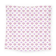 Pixel Hearts Square Tapestry (large) by jumpercat