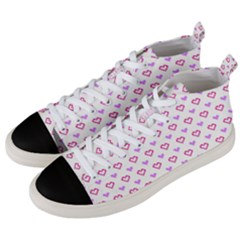 Pixel Hearts Men s Mid Top Canvas Sneakers by jumpercat