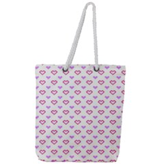 Pixel Hearts Full Print Rope Handle Tote (large) by jumpercat