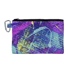 Ink Splash 01 Canvas Cosmetic Bag (medium)