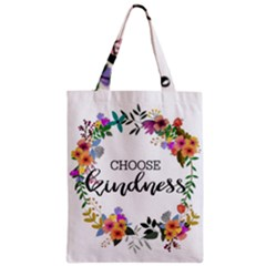Choose Kidness Zipper Classic Tote Bag by SweetLittlePrint