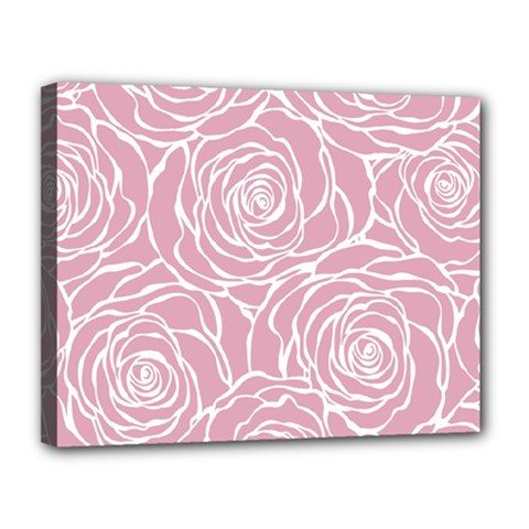 Pink Peonies Canvas 14  X 11  by 8fugoso