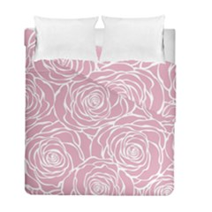 Pink Peonies Duvet Cover Double Side (full/ Double Size) by 8fugoso