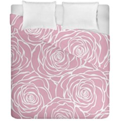 Pink Peonies Duvet Cover Double Side (california King Size) by 8fugoso