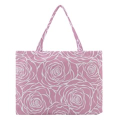 Pink Peonies Medium Tote Bag