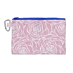 Pink Peonies Canvas Cosmetic Bag (large) by 8fugoso